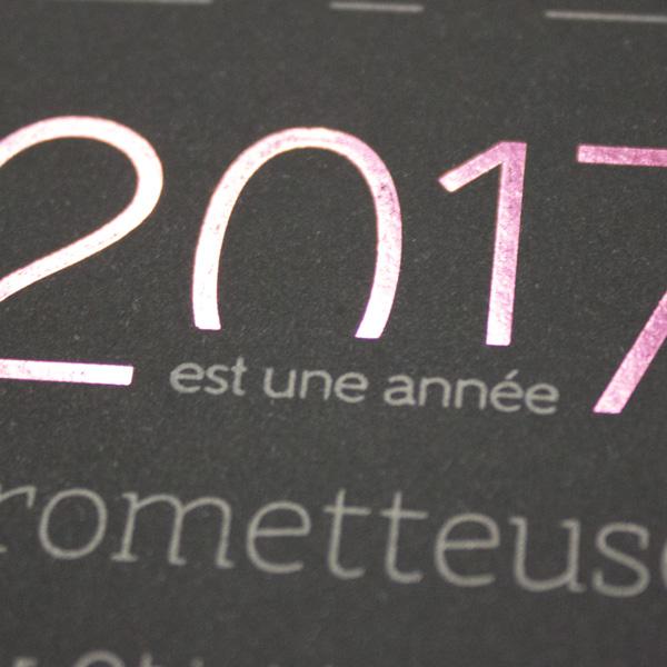 Création d'une carte de Vœux 2017 pour ObjetDomotique