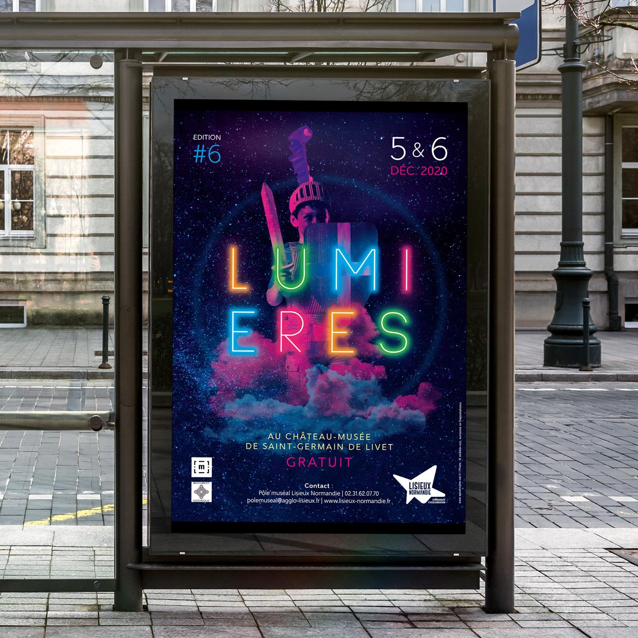 Création affiche évènement festival Lumières
