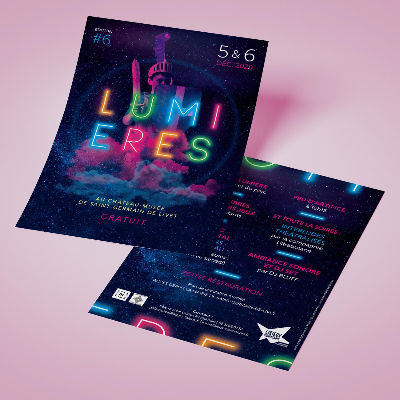Création flyer évènement festival Lumières
