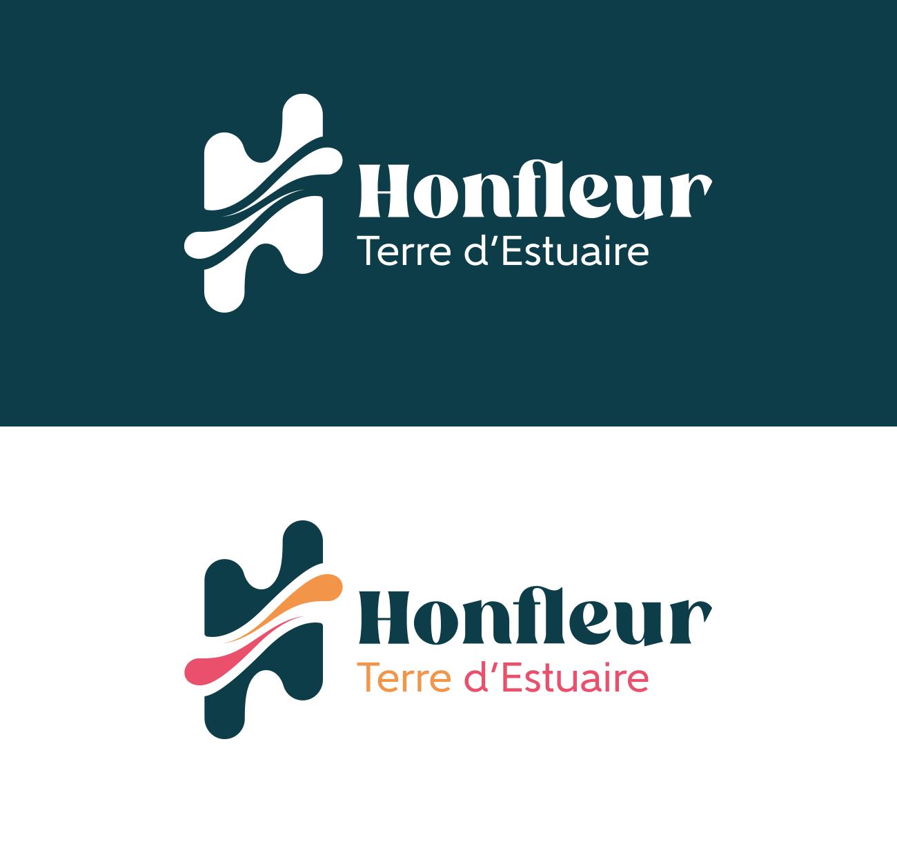 Creation du logo de Honfleur Terre d'Estuaire