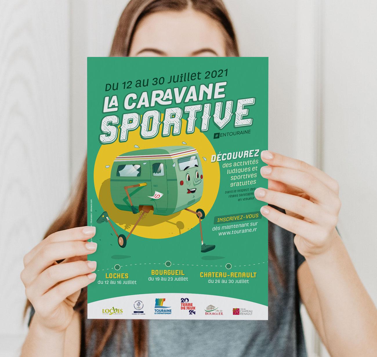 Creation visuel affiche programme la caravane sportive