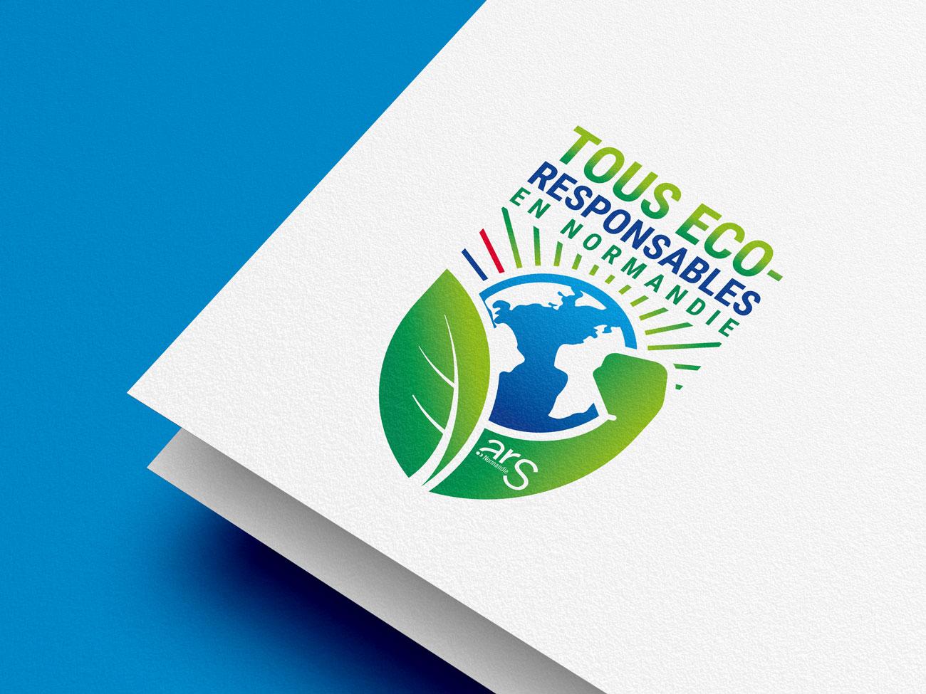 Logo sur mesure pour l'ARS Normandie l'Agence Régionale pour la Santé Tous Eco Responsable